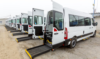 medical transport van with auto lift
