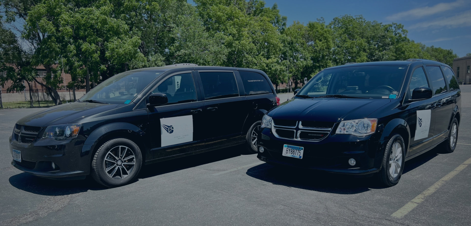 medical transportation van in desert background